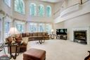 Family Room with floor to ceiling windows - 11604 TORI GLEN CT, HERNDON