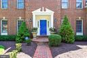 Brick front walkway to the front covered entrance - 20405 EPWORTH CT, GAITHERSBURG