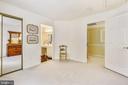 Bedroom #2 has mirrored closet doors - 20405 EPWORTH CT, GAITHERSBURG