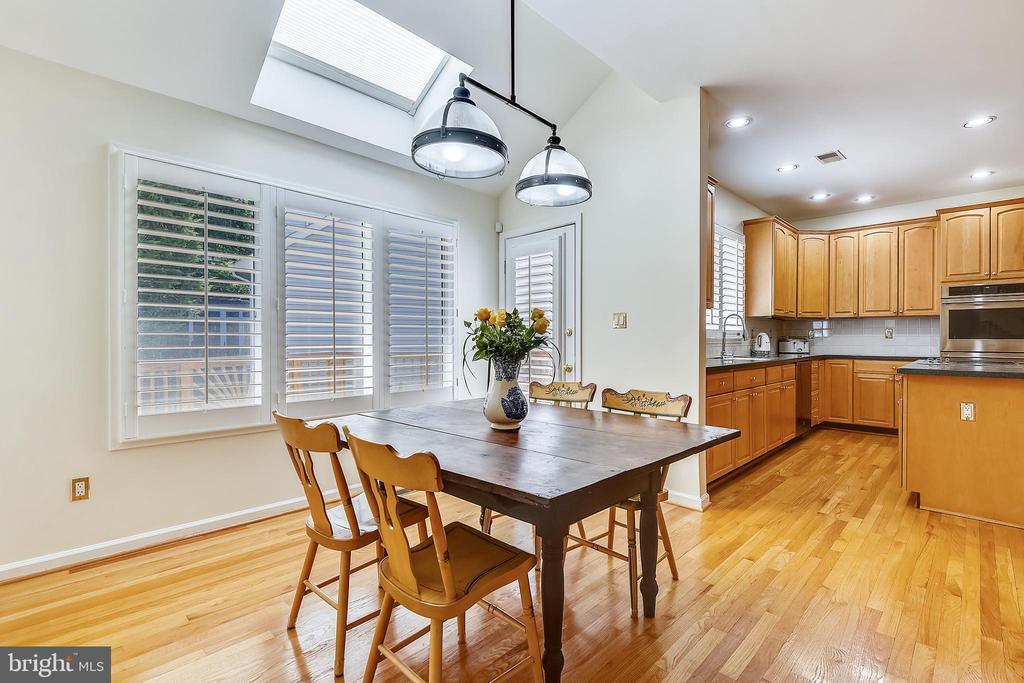 Breakfast area has new skylights - 20405 EPWORTH CT, GAITHERSBURG