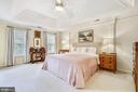 Master bedroom has trey ceiling - 20405 EPWORTH CT, GAITHERSBURG