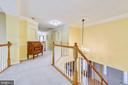 Upper level hallway leads to the bedrooms - 20405 EPWORTH CT, GAITHERSBURG