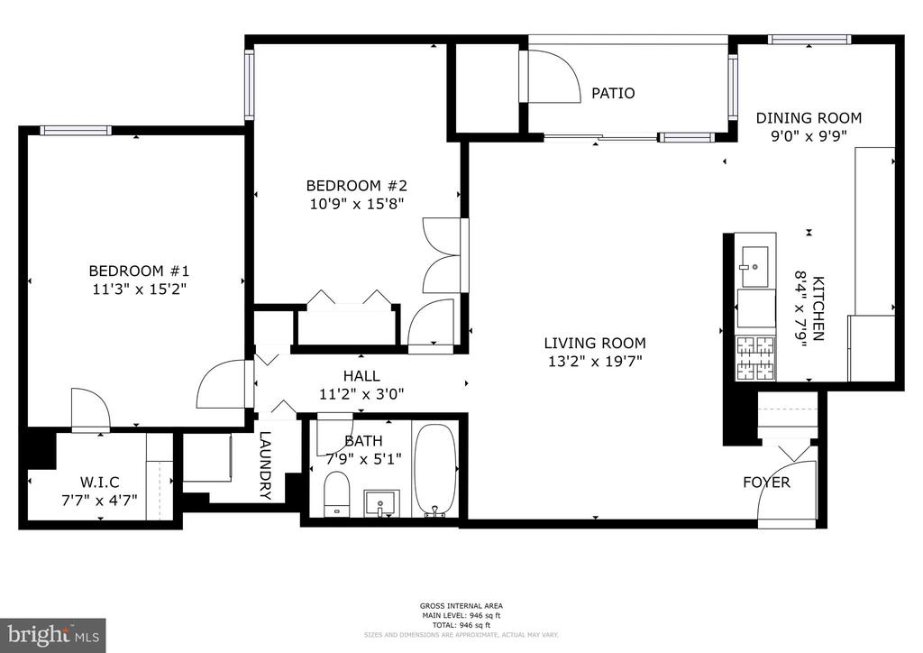Floor Plan of Home - 1931 WILSON LN #102, MCLEAN
