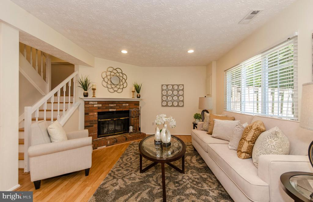 with rec room and brick hearth fireplace - 2033 BROOKS SQUARE PL, FALLS CHURCH