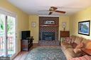 FR  &  Fireplace  w/Wood Stove Insert w/Glass Door - 2314 COLTS BROOK DR, RESTON