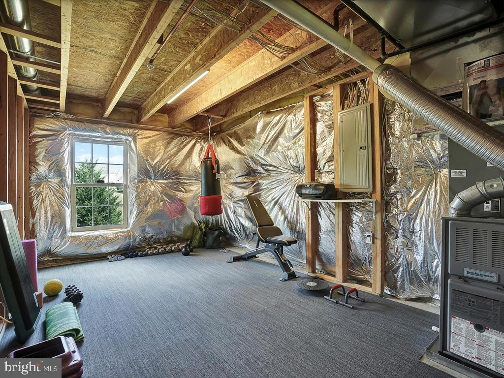 Potential Bedroom #5 with bathroom rough in! - 9509 TOTTENHAM CIR, FREDERICK