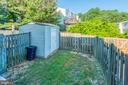 Fenced in back yard, storage shed. - 8203 WHITE STONE LN, SPRINGFIELD