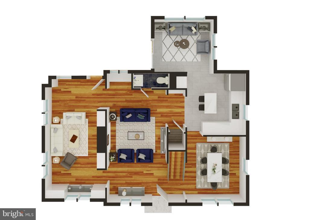 Main Level Floor Plan - 3506 7TH ST N, ARLINGTON