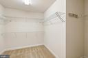 master walk-in closet - 7304 BACKLICK RD, SPRINGFIELD