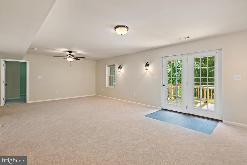 recreation room with walk out - 7304 BACKLICK RD, SPRINGFIELD