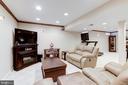 Huge  finished basement - 13915 MARBLESTONE DR, CLIFTON