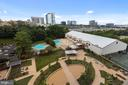 View of new Garden Plaza from Balconies - 1800 OLD MEADOW RD #1106, MCLEAN