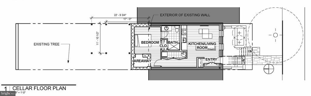 Lower Level Floor Plan - 1714 10TH ST NW, WASHINGTON