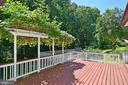 Deck overlooking Pool & Backyard - 3366 BANNERWOOD DR, ANNANDALE