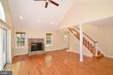 Great Room w/ Fireplace - 3366 BANNERWOOD DR, ANNANDALE