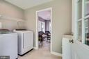 Laundry so convenient & utility tub - 5708 GLENWOOD CT, ALEXANDRIA