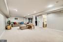Large versatile rec room - 5708 GLENWOOD CT, ALEXANDRIA