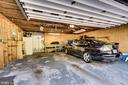 2 car attached garage with work bench space too! - 5708 GLENWOOD CT, ALEXANDRIA