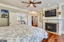 Master Bedroom with Built-ins - 6811 CLIFTON RD, CLIFTON