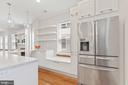 Kitchen banquette & open shelving - 3518 10TH ST NW #B, WASHINGTON