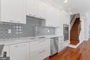 View of Sink & Designer Tile Backsplash - 3518 10TH ST NW #B, WASHINGTON