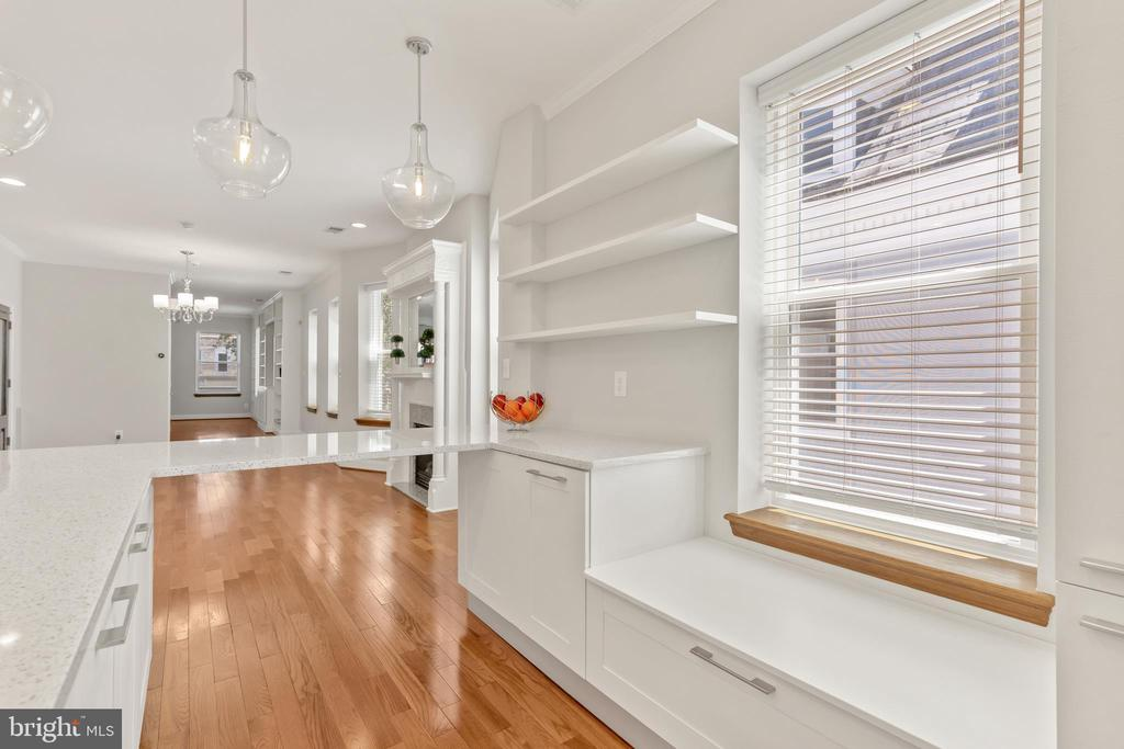 View to Dining & Living Areas - 3518 10TH ST NW #B, WASHINGTON