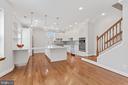 View of Kitchen Island & Seating - 3518 10TH ST NW #B, WASHINGTON