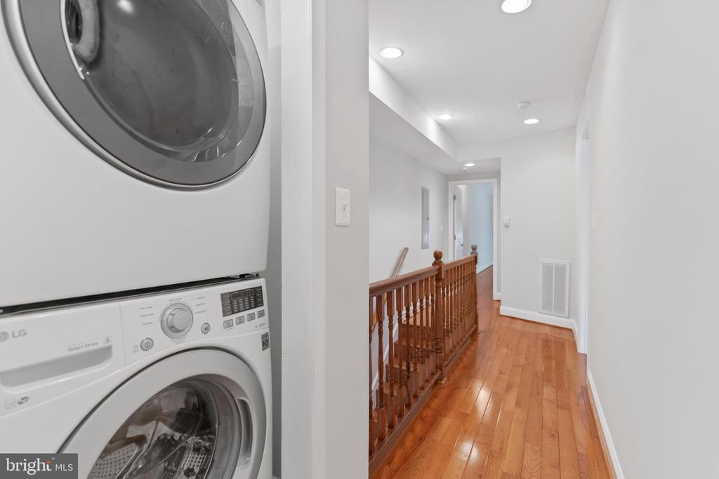 W/D on Bedroom Level - 3518 10TH ST NW #B, WASHINGTON