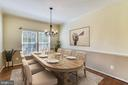 Dining Room virtually staged - 14091 EAGLE CHASE CIR, CHANTILLY
