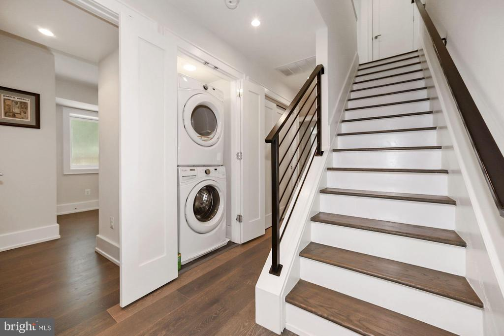 Whirlpool washer and dryer on bedroom level - 407 RANDOLPH ST NW #1, WASHINGTON