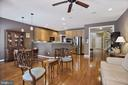 Open familyroom , kitchen and eat in space - 20157 VALHALLA SQ, ASHBURN