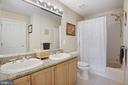 Hall bath with granite & direct entry from 2nd BR - 20157 VALHALLA SQ, ASHBURN