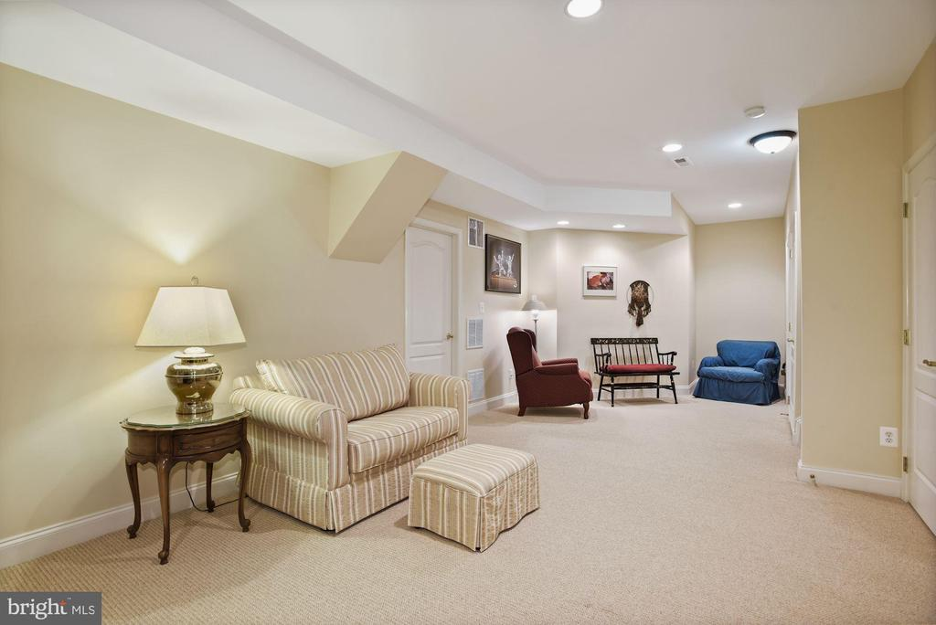Large finished lower level with recessed lights - 20157 VALHALLA SQ, ASHBURN