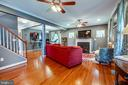 The family room space is perfect for gatherings - 3110 RIVERVIEW DR, COLONIAL BEACH