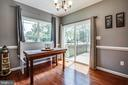 Breakfast nook opens to deck - 3110 RIVERVIEW DR, COLONIAL BEACH
