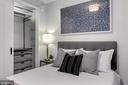 Bedroom with Custom Closet System - 1300 4TH ST SE #802, WASHINGTON