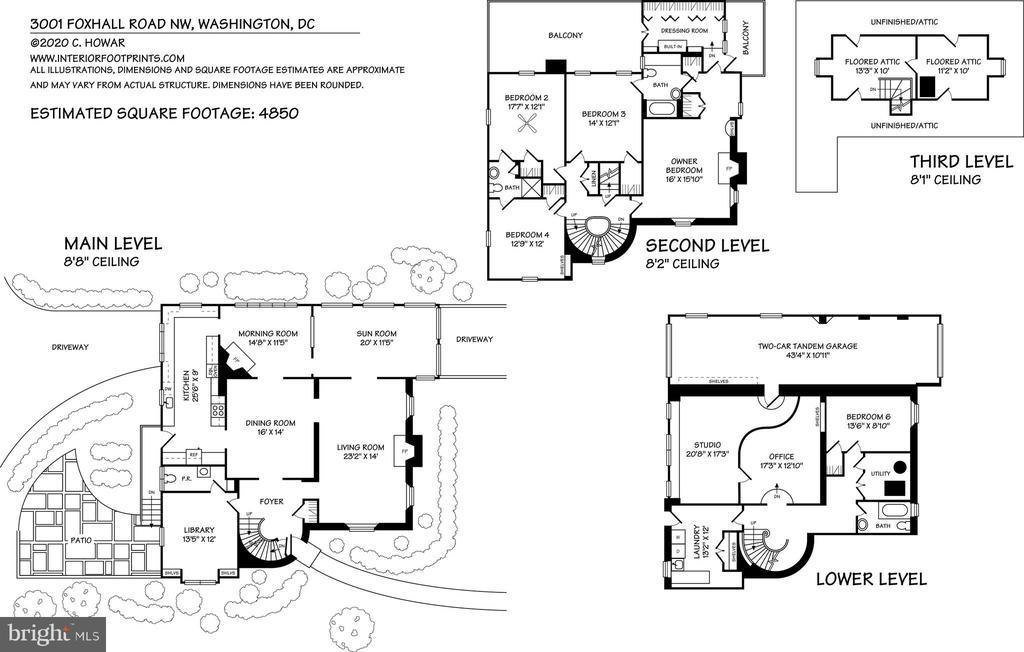 Floorplans - 3001 FOXHALL RD NW, WASHINGTON