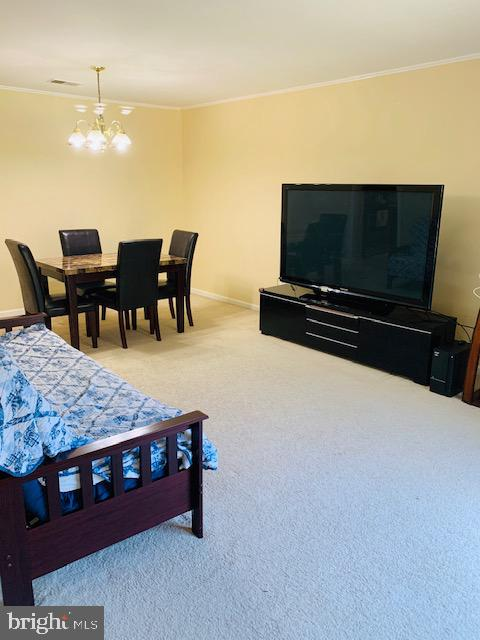 spacious living room - 4620 CONWELL DR #146, ANNANDALE