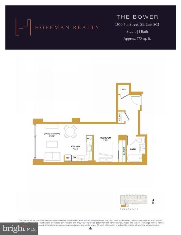 The Bower Unit 802- Floorplan - 1300 4TH ST SE #802, WASHINGTON
