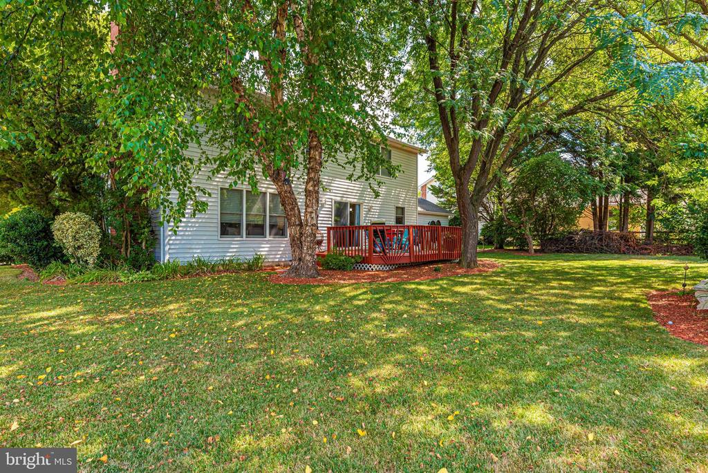 Fenced backyard and deck - 18 GRAY FOX CT, MIDDLETOWN
