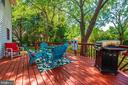 Deck overlooks private backyard - 18 GRAY FOX CT, MIDDLETOWN