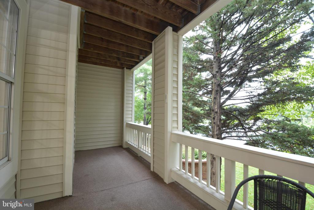 Another view of main balcony area - 7004 ELLINGHAM CIR #45, ALEXANDRIA