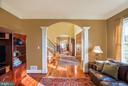 Beautiful arched doorways from formal living room - 12788 BARNETT DR, MOUNT AIRY