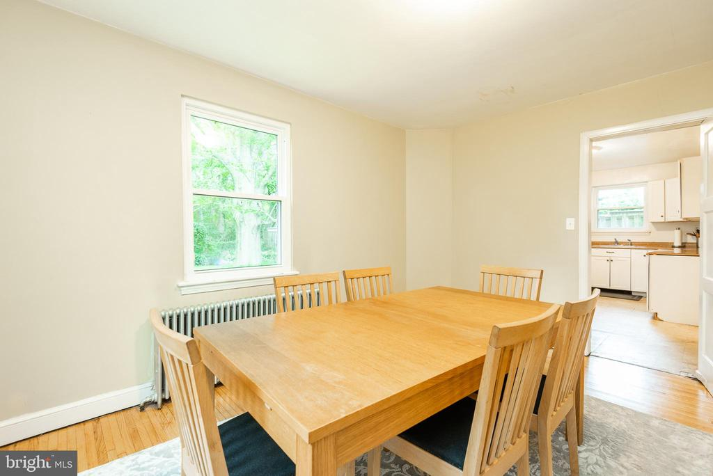 Large Separate Dining Rm w View to Kitchen - 9115 FLOWER AVE, SILVER SPRING