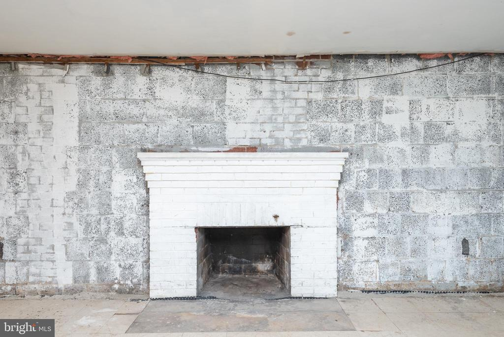 LL Fireplace, Brick & Block Foundation - 9115 FLOWER AVE, SILVER SPRING