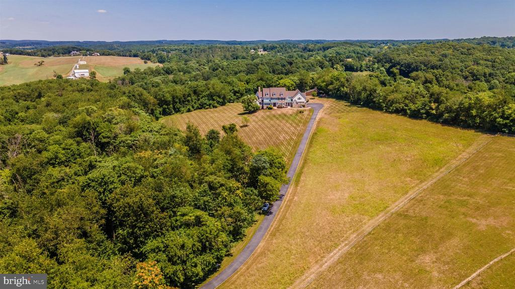 Aerial view of estate. Very private - 12788 BARNETT DR, MOUNT AIRY