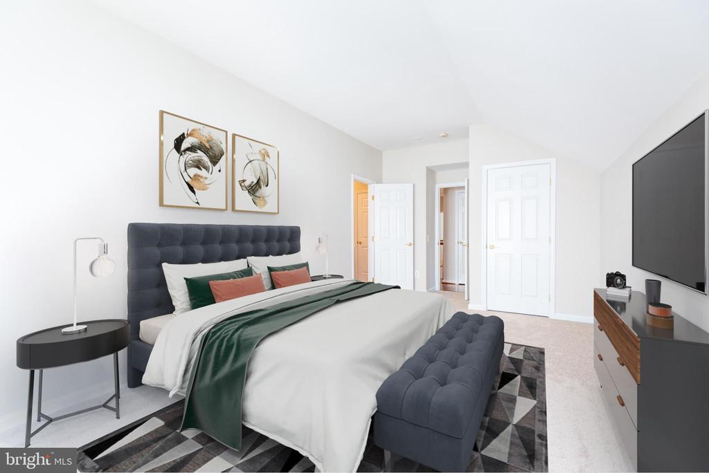 Leftmost front bedroom with virtual staging - 6033 SUMNER RD, ALEXANDRIA