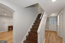 Stairwell to lower level - 1813 HERNDON ST N, ARLINGTON