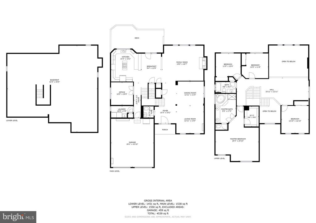 Floor Plans - All 3 Levels - 26048 IVERSON DR, CHANTILLY