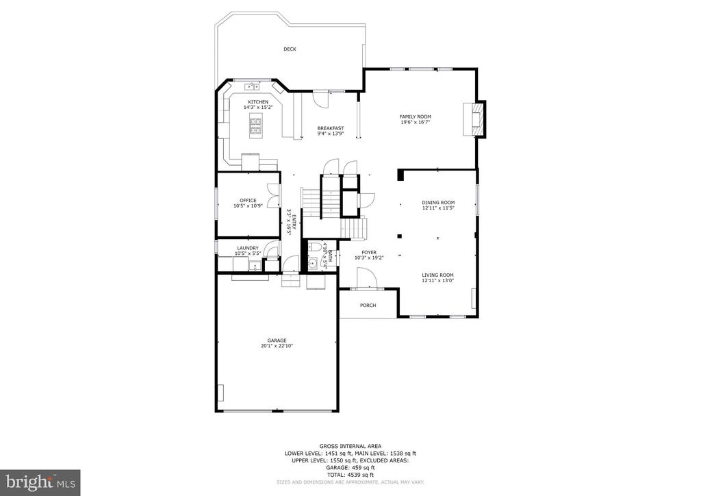 Floor Plan - Main Level - 26048 IVERSON DR, CHANTILLY